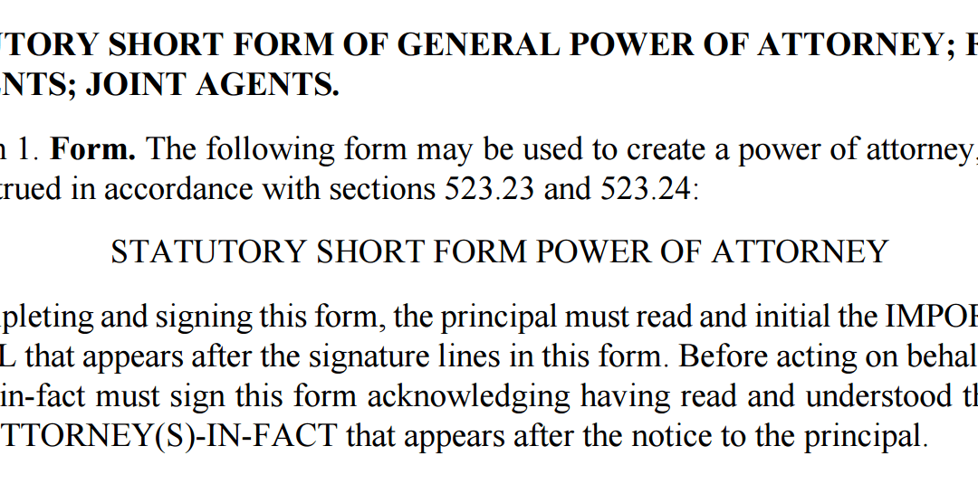 Power of Attorney Form Minnesota