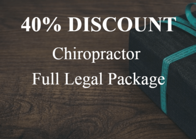 Chiropractor – Full Legal Startup Package – $1500 (40% Discount)
